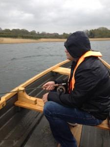 Mike enjoying the cold rain